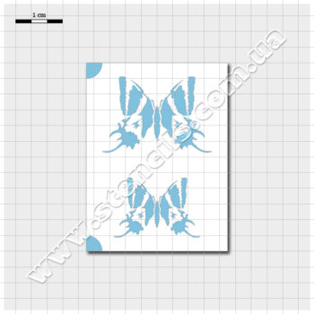 Трафарет метелика тейнопальпуса імператорського