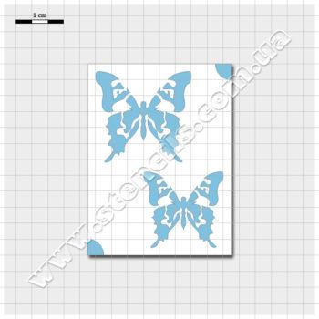 Трафарет метелика ластівкохвіста