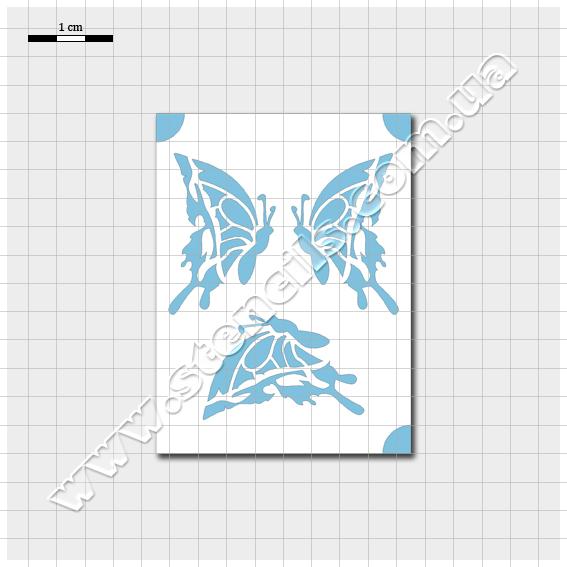 Трафарет метелика №3